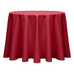 Ultimate Textile Twill 108-Inch Round Tablecloth in Red