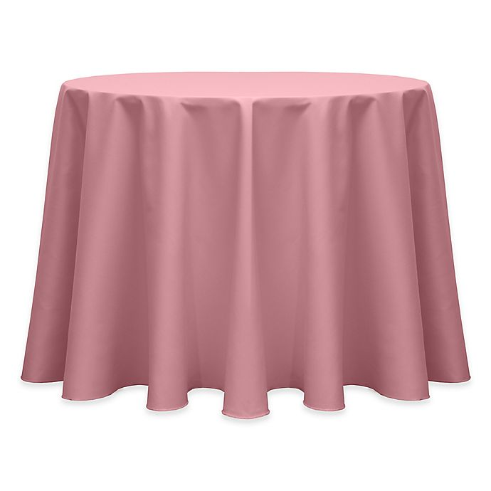 Alternate image 1 for 132-Inch Round Indoor/Outdoor Twill Tablecloth in Dusty Rose