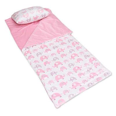 Thro Elephants Microplush Sleeping Bag in Pink