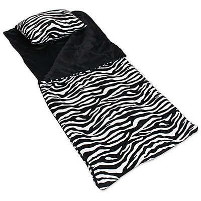 Thro Zebra Microplush Sleeping Bag in Black/White