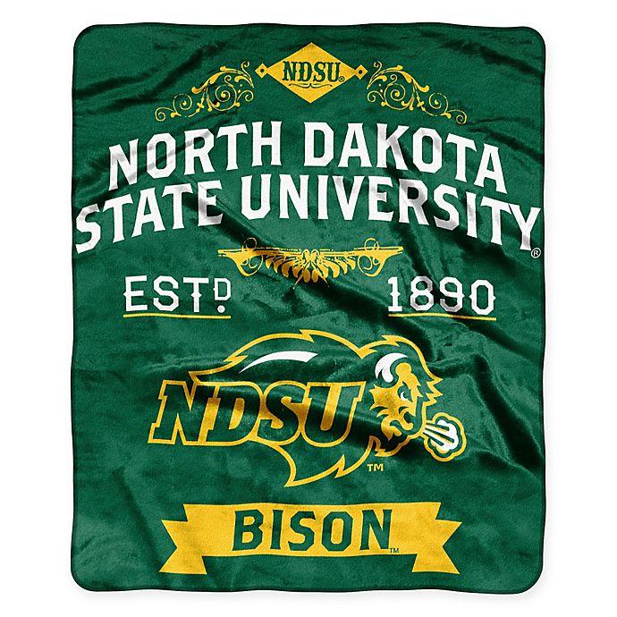 Alternate image 1 for North Dakota State University Raschel Throw Blanket