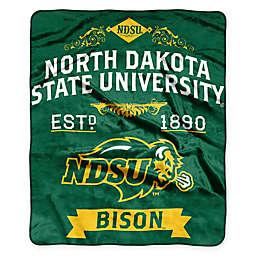 North Dakota State University Raschel Throw Blanket