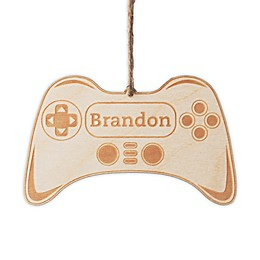 Video Gamer Wood Ornament