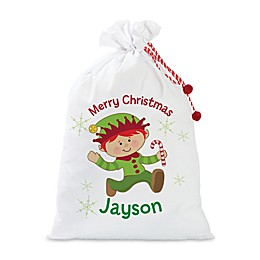 Boy Elf Santa Sack in Red