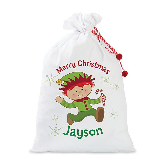 Alternate image 1 for Boy Elf Santa Sack in Red
