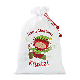 Girl Elf Santa Sack in Red