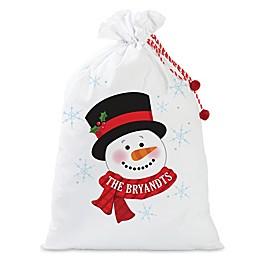 Snowman Santa Sack in Red