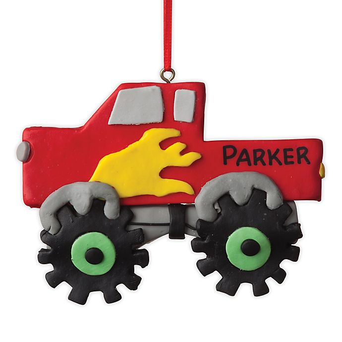 Alternate image 1 for Monster Truck Ceramic Ornament