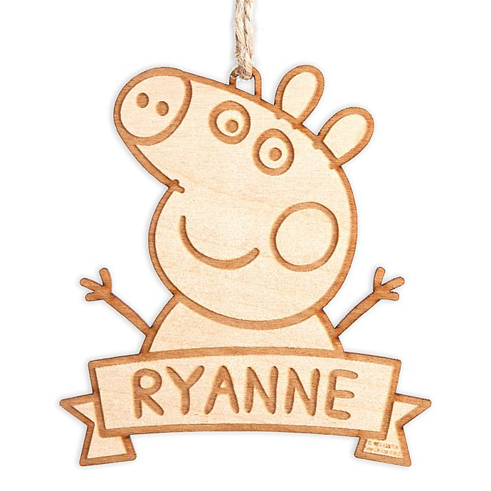 Alternate image 1 for Peppa Pig Wood Ornament