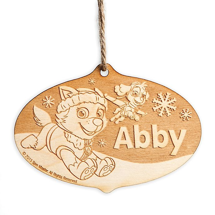 Alternate image 1 for Paw Patrol Everest and Skye Wood Ornament