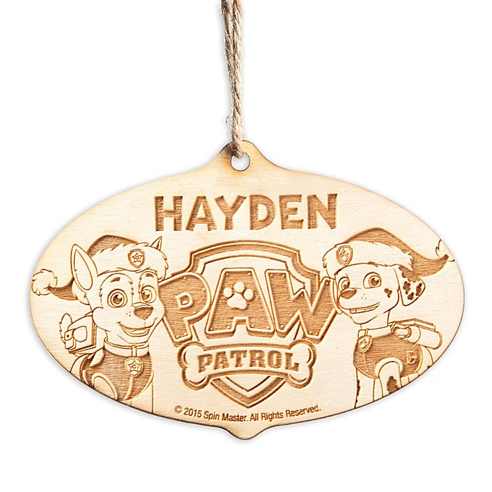 Alternate image 1 for Paw Patrol Chase and Marshall Wood Ornament
