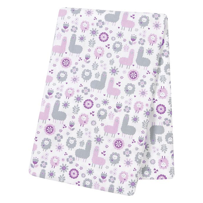 Alternate image 1 for Trend Lab® Llama Friends Deluxe Flannel Swaddle Blanket