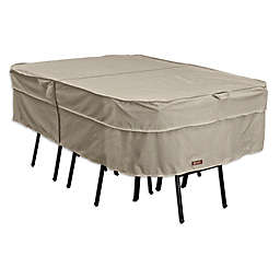 Classic Accessories® Montlake Large Rectangular/Oval Patio Table and Chair Set Cover in Grey