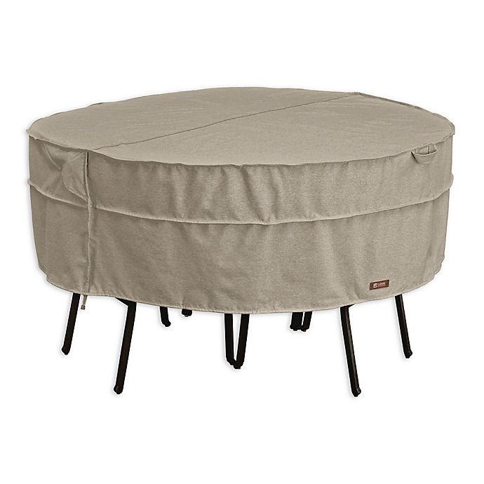 Alternate image 1 for Classic Accessories Montlake FadeSafe 70-Inch Round Patio Dining Set Cover in Grey