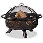 UniFlame® 36-Inch Outdoor Steel Firebowl in Oil Rubbed Bronze