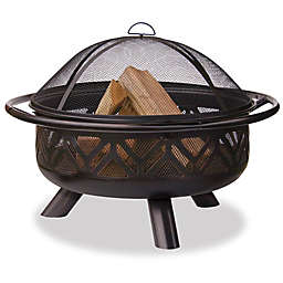 UniFlame® 36-Inch Steel Wood Burning Firebowl in Oil Rubbed Bronze