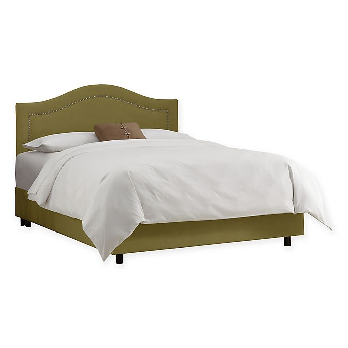 Alternate image 1 for Dumont Nail Button King Bed in Premier Sage