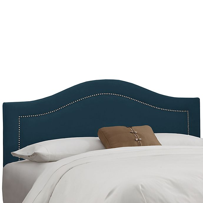 Alternate image 1 for Skyline Furniture Dumont Nail Button Full Headboard in Navy