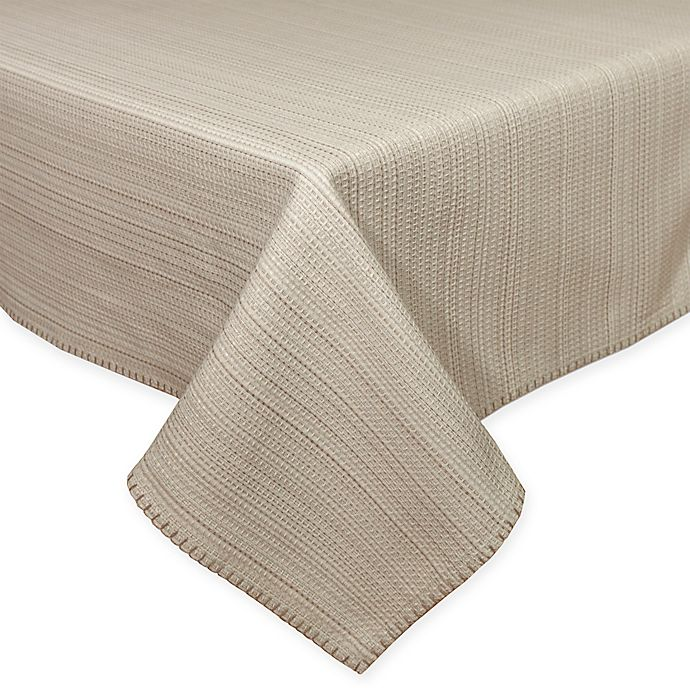 Alternate image 1 for Terra Woven Lyon 60-Inch x120-Inch Oblong Tablecloth in Sand