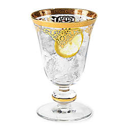 Classic Touch Vivid Collection Short Stem Glasses in Gold (Set of 6)