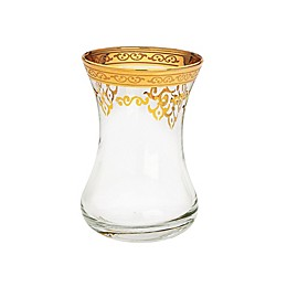 Classic Touch Vivid Collection Teacup in Gold (Set of 6)