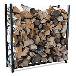 UniFlame® 4-Foot Premium Log Rack in Black
