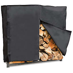 UniFlame® Outdoor Log Rack Cover in Black