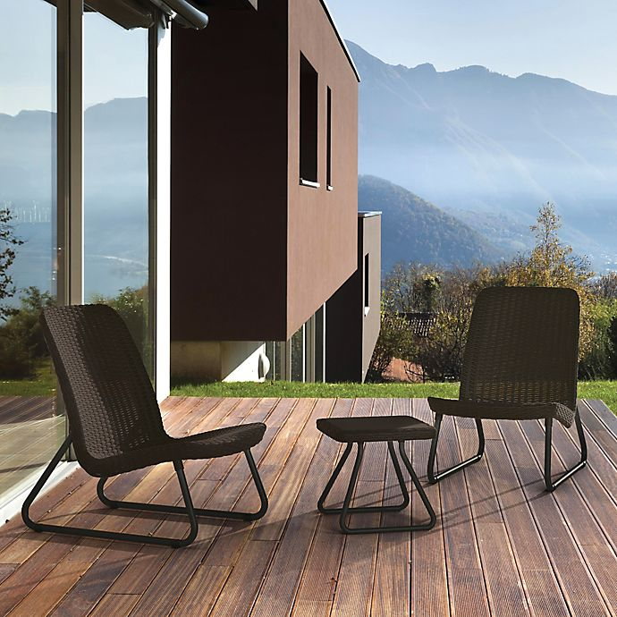 Alternate image 1 for Keter Rio 3-Piece Patio Set in Brown