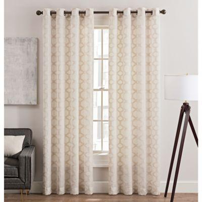Rankin Grommet Top Sheer Window Curtain Panel Bed Bath