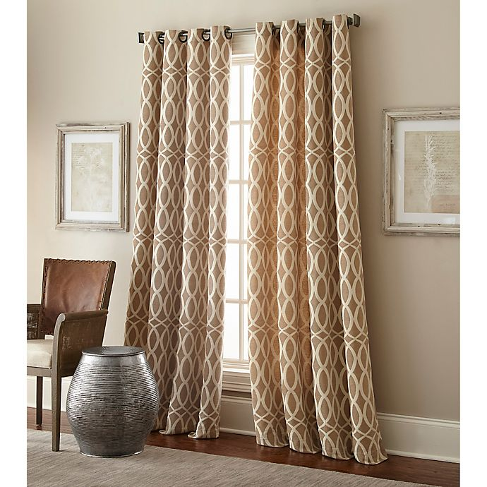 Alternate image 1 for Hewlett 63-Inch Grommet Window Curtain Panel in Taupe