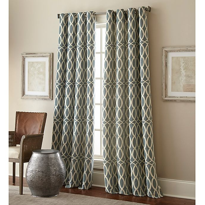 Alternate image 1 for Hewlett 84-Inch Grommet Window Curtain Panel in Mineral