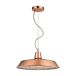 Sterling Industries 1-Light Ajax Pendant in Copper