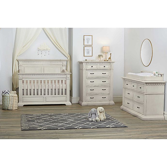 Kingsley Venetian Nursery Furniture Collection in Antique White - Kingsley Venetian Nursery Furniture Collection In Antique White