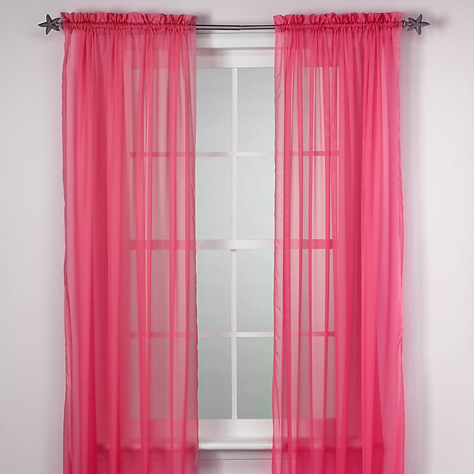 Alternate image 1 for Calypso 84-Inch Window Curtain Panel in Pink