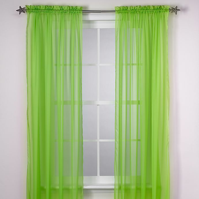 Alternate image 1 for Calypso 63-Inch Window Curtain Panel in Lime