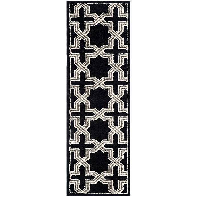 Alternate image 1 for Safavieh Amherst Inter Indoor/Outdoor2-Foot 3-Inch x 7-Foot Area Rug in Anthracite