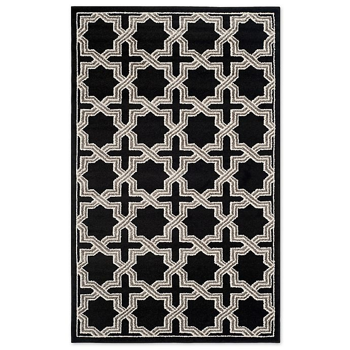 Alternate image 1 for Safavieh Amherst Inter Indoor/Outdoor 5-Foot x 8-Foot Area Rug in Anthracite