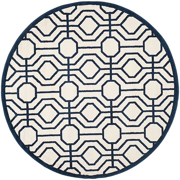 Alternate image 1 for Safavieh Amherst Abstract Indoor/Outdoor7-Foot x 7-Foot Area Rug in Ivory