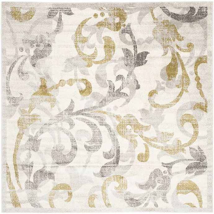 Alternate image 1 for Safavieh Amherst Vinery Indoor/Outdoor 7-Foot x 7-Foot Area Rug in Ivory