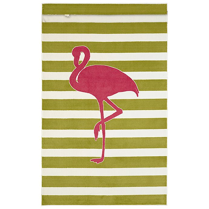 Alternate image 1 for Mohawk Home® Aurora Fancy Flamingo 5-Foot x 8-Foot Area Rug in Hot Pink