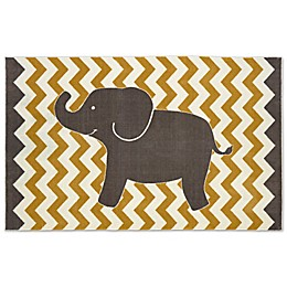 Mohawk Home® Aurora Lucky Elephant 5-Foot x 8-Foot Area Rug in Yellow