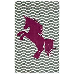 Mohawk Home® Aurora Majestic Unicorn 5-Foot x 8-Foot Area Rug in Royal