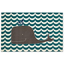 Mohawk Home® Aurora Oh Whale 5-Foot x 8-Foot Area Rug in Blue