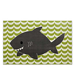 Mohawk Home® Aurora Smiling Shark 5-Foot x 8-Foot Area Rug in Lime Green