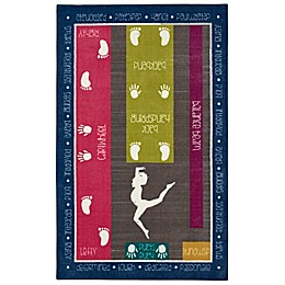 Mohawk Home® Aurora Gymnastics Fun 5-Foot x 8-Foot Multicolor Area Rug