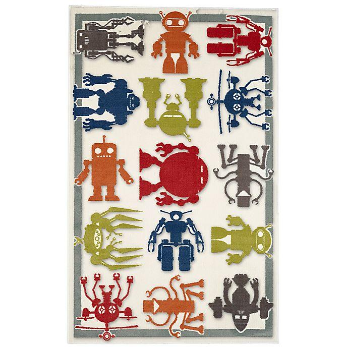 Alternate image 1 for Mohawk Home® Aurora Robot Army 5-Foot x 8-Foot Multicolor Area Rug