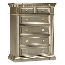 Kingsley Venetian 5-Drawer Dresser in Champagne Gold