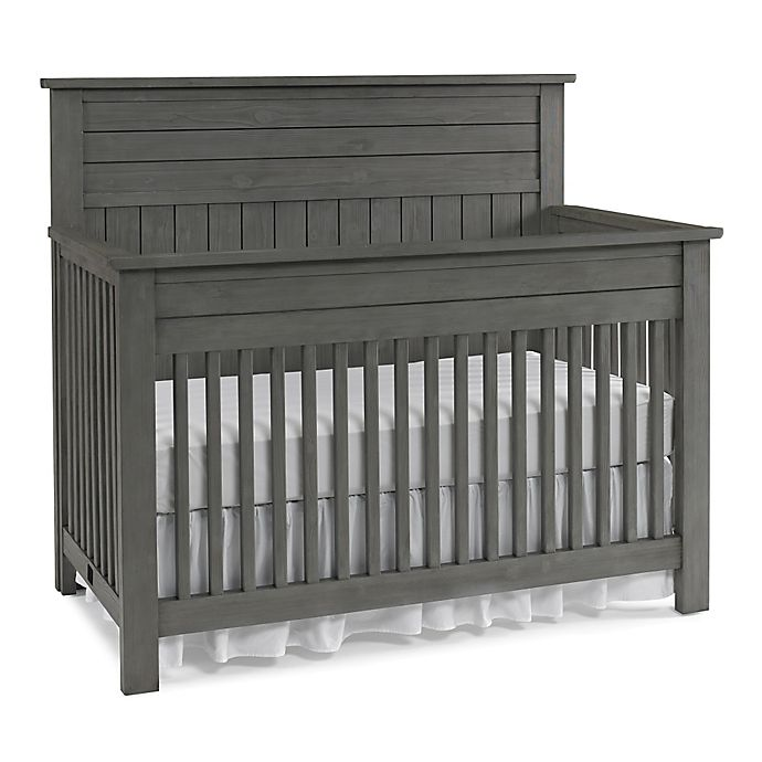 Alternate image 1 for Bel Amore® Channing Full Panel 4-in-1 Convertible Crib in Grey