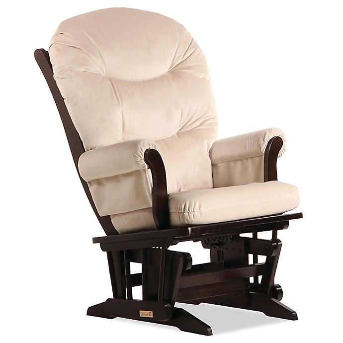 Alternate image 1 for Dutailier® Sleigh Glider in Espresso/Light Beige