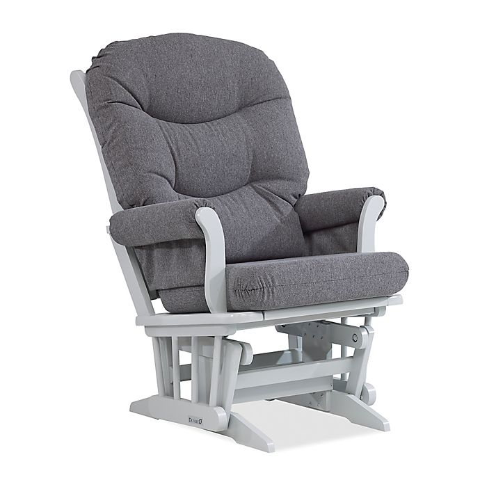 Alternate image 1 for Dutailier® Sleigh Glider in Grey/Charcoal